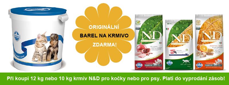 Barel na krmiva ZDARMA značky Natural Delicious