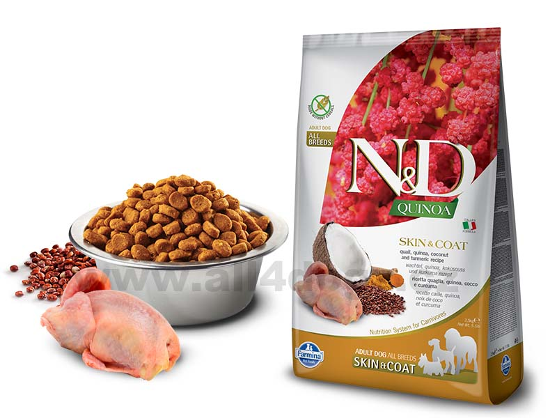 Granule N&D Grain Free Quinoa DOG Skin & Coat Quail & Coconut 7 kg