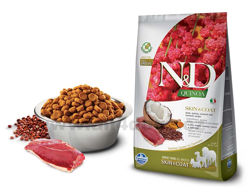 Granule N&D Grain Free Quinoa DOG Skin & Coat Duck & Coconut 2,5 kg