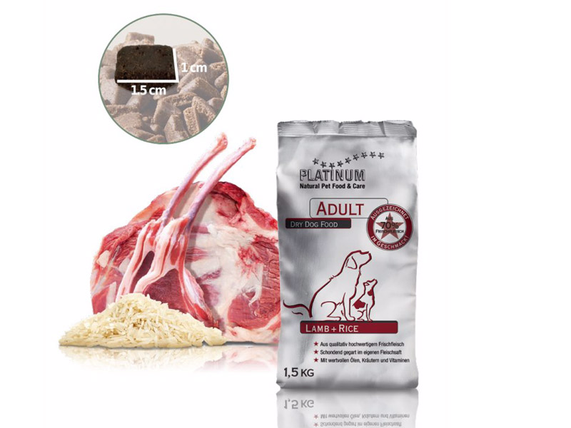 Granule PLATINUM Natural Adult Lamb & Rice 1,5 kg