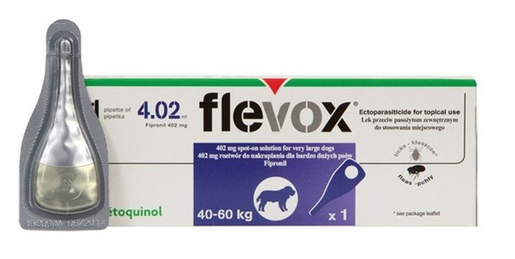 Flevox pro psy Spot on Dog XL 402 mg sol 1 x 0,5 ml